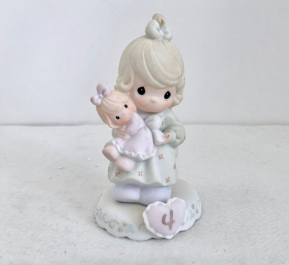 Enesco Precious Moments 1994 Growing in Grace Age 4 Porcelain Figurine - Nature Land Candles