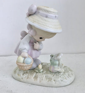 Enesco Precious Moments 1990 Happy Easter, Friend Figurine - Nature Land Candles