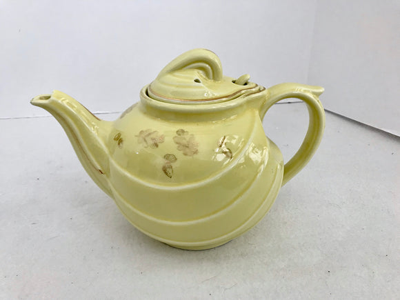 Hall 0799 Canary Yellow 6 Cup  Art Deco Teapot - Nature Land Candles