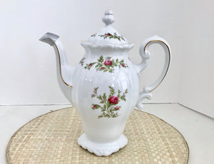Johann Haviland Traditions Fine China Moss Rose 6 Cup Coffee Pot - Nature Land Candles