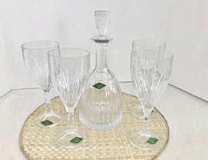 Shannon Crystal Godinger Ingrid 6 Piece 24% Lead Crystal Wine Set W/Original Box - Nature Land Candles