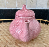 Stanhome Gift Gallery Exclusive Portugal 6 Cup Pink Leaf Teapot - Nature Land Candles