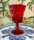 "Fostoria Jamestown Ruby Red 6"" Water Goblet - Nature Land Candles"