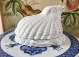 Fitz and Floyd 1999 Blanc de Chine White Porcelain Quail/Bird Nesting on Berries - Nature Land Candles