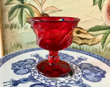 "Fostoria Jamestown Ruby Red 4 1/2"" Tall Sherbet Glass - Nature Land Candles"
