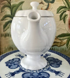 Matceramica White Pedestal 4 Cup Teapot Made in Portugal - Nature Land Candles