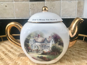 "Thomas Kinkade ""Home is Where the Heart Is II"" 4 Cup Teapot - Nature Land Candles"