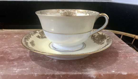 Noritake China Japan 7280 Mayfield Coffee Cup and Saucer