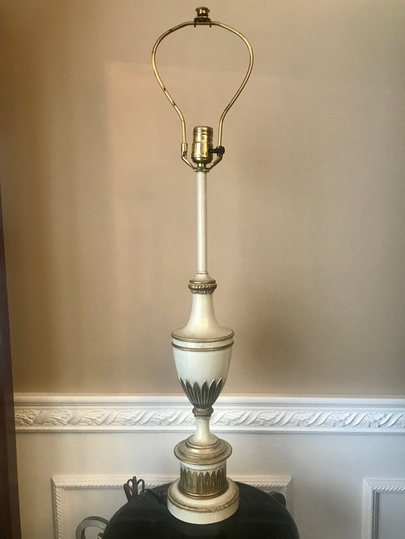 Stiffel Adams Hollywood Regency Classical Metal Trophy Urn Table Lamp - Nature Land Candles