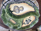 "CIB Olive and Garlic Divided 13"" Serving Dish with Wire Rack and Original Box - Nature Land Candles"