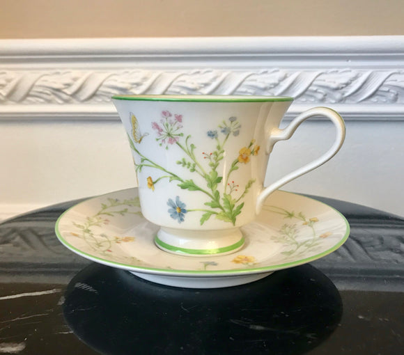 Noritake Ivory China 7191 Reverie Coffee Cup and Saucer - Nature Land Candles