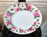 "Crown Staffordshire Bone China Irish Rose 8 1/2"" Cake Plate With Original Box - Nature Land Candles"