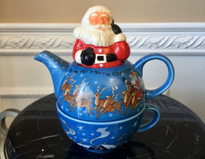 Paul Cardew Designed Christmas Santa 2 Cup Tea For One - Nature Land Candles