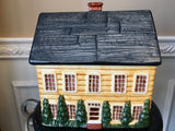 Gear Block Country Village Hand Painted Manor House Cookie Jar