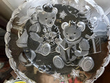 "Mikasa Party Bears 15"" Embossed Frosted Hostess Platter with Original Box - Nature Land Candles"