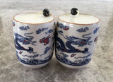 Honeysuckle Nector Scented Soy Candle in Asian Dragon Chinese Cup - Nature Land Candles