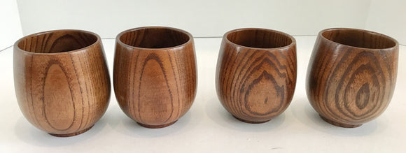 Set of Four Asian Style Bamboo Cups 3