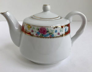 Vintage Tiger Yedi Inc. White Porcelain Floral Teapot - Nature Land Candles