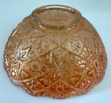 Imperial Orange Iridescent Pumpkin Marigold Carnival Glass Bowl W/Saw Tooth Edge - Nature Land Candles