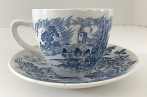 Vintage Enoch Wedgwood & Co. Countryside Pattern Teacup and Saucer - Nature Land Candles