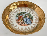 "Vintage Radisson W.S. George Gold Inlay 5"" Fruit Bowl"