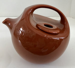 Vintage Burnt Orange Ceramic Teapot by Robert Steven Witkoff for National Silver Japan - Nature Land Candles