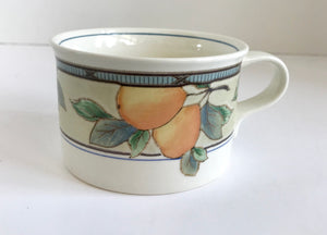 Vintage Mikasa Intaglio CAC29 Garden Harvest Coffee Cups - Nature Land Candles
