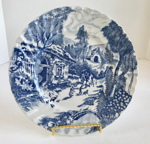 "Vintage Rossini Country French Blue and White 9"" Dinner Plate - Nature Land Candles"
