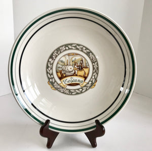 "Himark Italian La Toscana Green and White 11 3/4"" Pasta Bowl - Nature Land Candles"