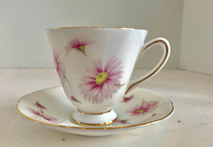 Vintage Old Royal England Bone China Purple Flower Tea Cup and Saucer - Nature Land Candles