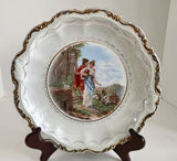 "Vintage Empire China Decorative Roman Scene White 10 1/2"" Plate 4321 - Nature Land Candles"