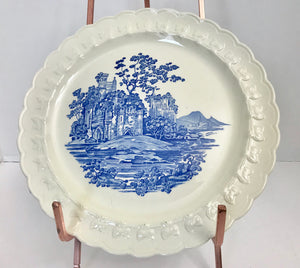 "Vintage Taylor Smith & Taylor Blue Castle 10"" Dinner Plate - Nature Land Candles"