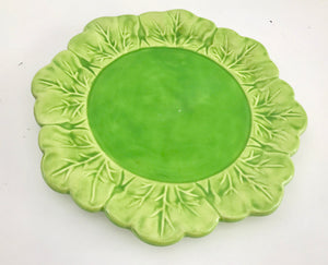 "Holland Mold 8"" Green Cabbage Plate - Nature Land Candles"