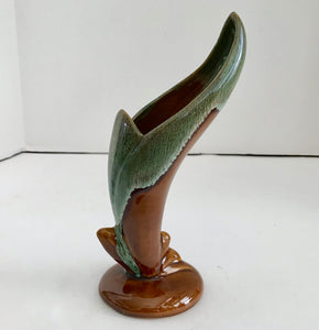 Van Briggle Pottery Brown Drip Glazed Bird of Paradise Bud Vase - Nature Land Candles