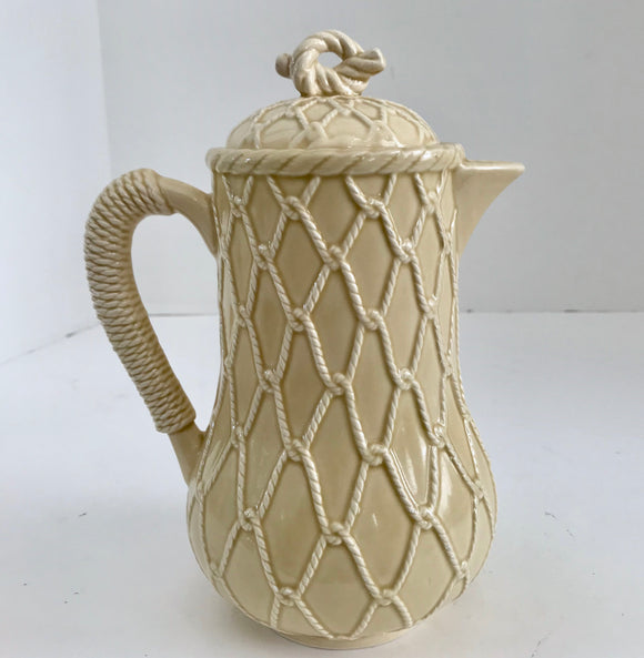 Vintage Schmid Design Folio Beige Rope 4 Cup Coffee Pot - Nature Land Candles
