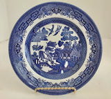"Churchill England Blue Willow Ware 8"" Salad Plate - Nature Land Candles"