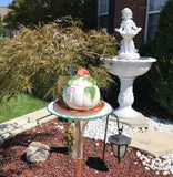 Repurposed Garden Ceramic and Glass Bottle Art with White Ceramic Pumpkin - Nature Land Candles