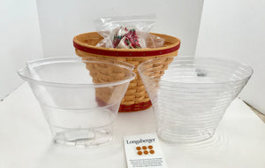 Longaberger 2002 May Series Geranium Basket Signed by Bonnie Longaberger - Nature Land Candles