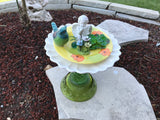 Vintage Repurposed Garden Ceramic and Glass Garden Bottle Yard Art - Nature Land Candles