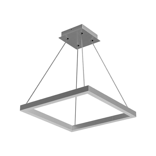 Modern 1-Square Chandelier Lighting, 40W, 3000K,1917LM, Dimmable, Dimension : 19.7'L'×19.7'W'×55''H