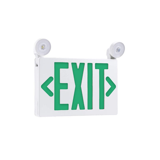 Emergency Exit Light combo , 3.5W , Green , UL Listed
