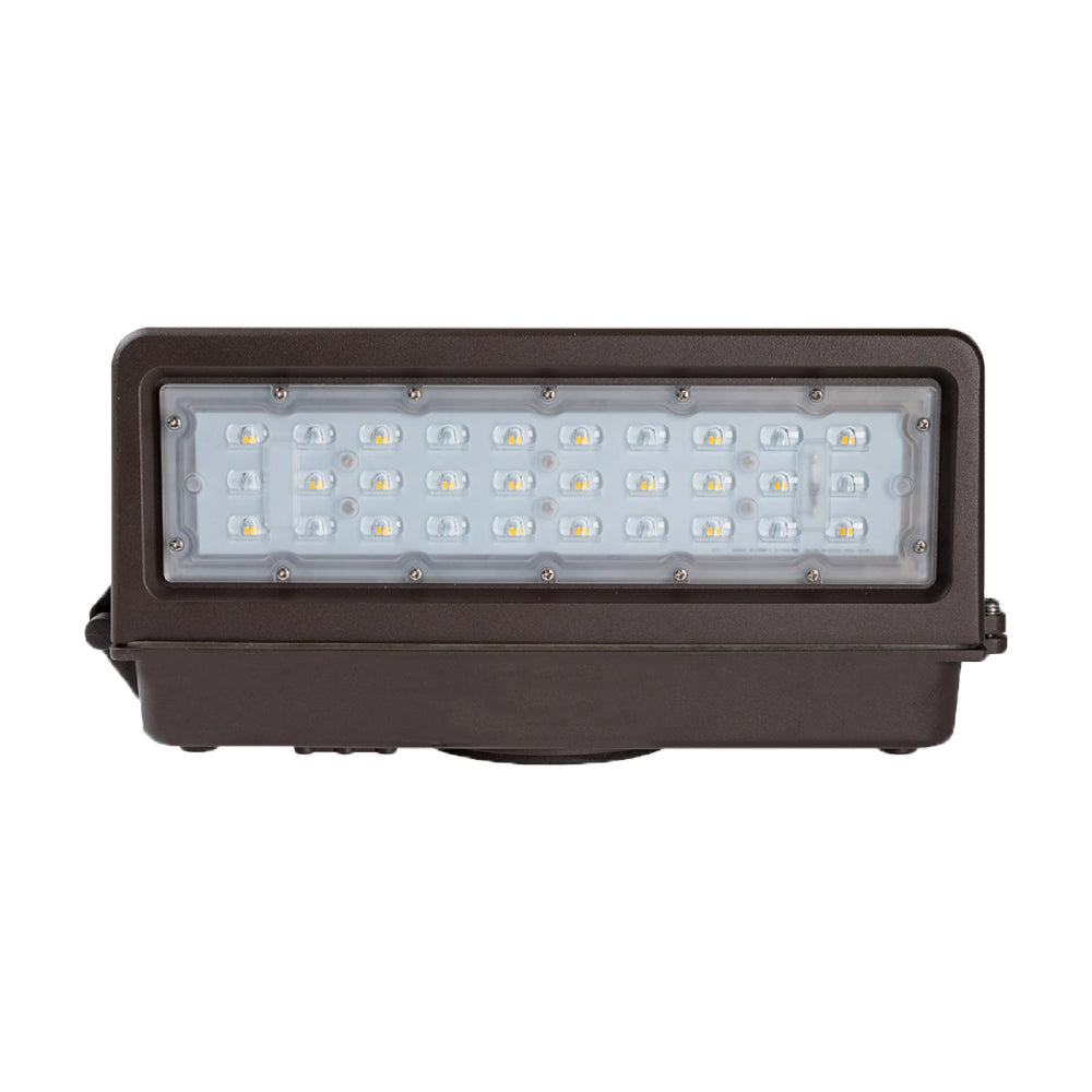 40W Full Cut-off LED Wall Pack Light ; 5700K AC100-277V ; Bronze