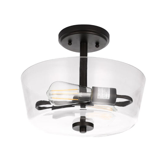 2-Lights Semi-Flush Mount Ceiling Lights, E26 Base, Round, UL Listed for Damp Location, 3 Years Warranty