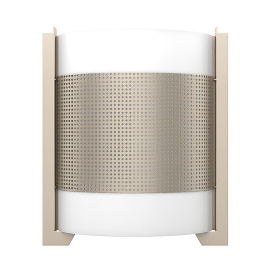 Brushed Nickel Wall Sconce Light with White Glass Shade