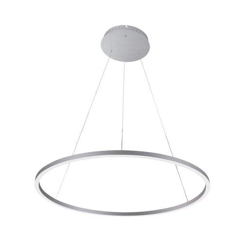 Modern 1-Ring Chandelier, 56W, 3000K, 2462LM, Diameter 39.4''×71'', Dimmable