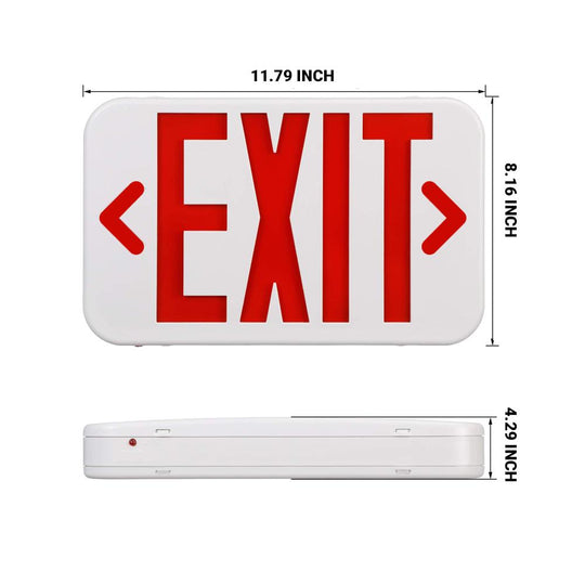 LED Emergency Exit Sign (Side & Ceiling Mount)