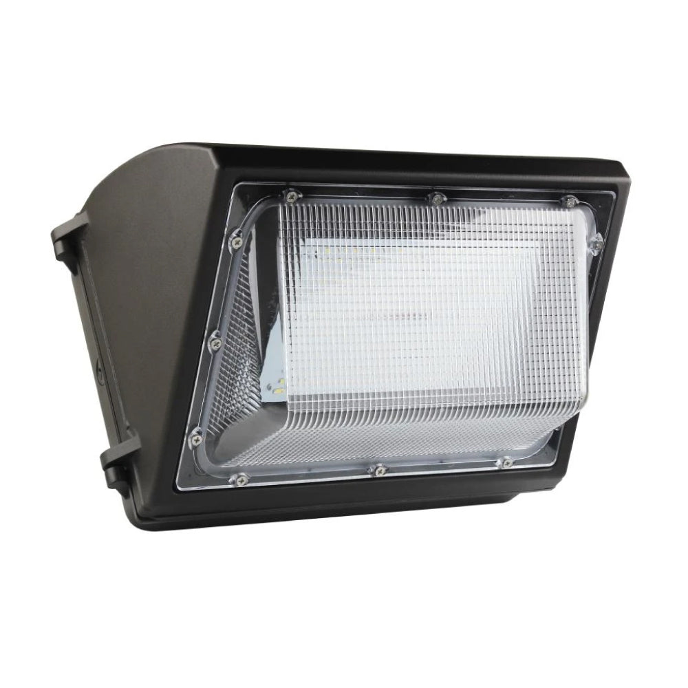 80W LED Wall Pack Light With Photocell Sensor; 10,173 Lumens 5700K Bronze Finish; Forward Throw