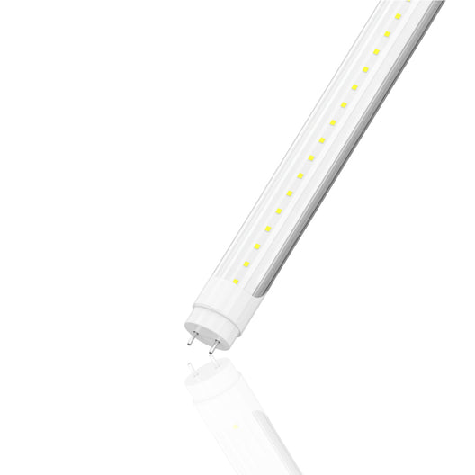 T8 4ft 18W LED Tube 5000K Clear 2500 Lumens Single Ended Power