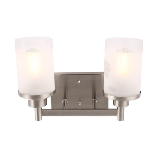 Cylinder Shape Bathroom Vanity Lights with Frosted Glass Shades, E26 Base, UL Listed for Damp Location, 3 Years Warranty