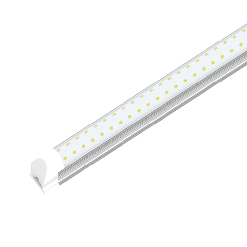 T8 2ft LED Tube Integrated 2 Row Flat ; 10W 6500K ; AC100-277V ; Clear